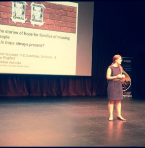 Dr Sarah Wayland presenting at the University of Western Australia 2014